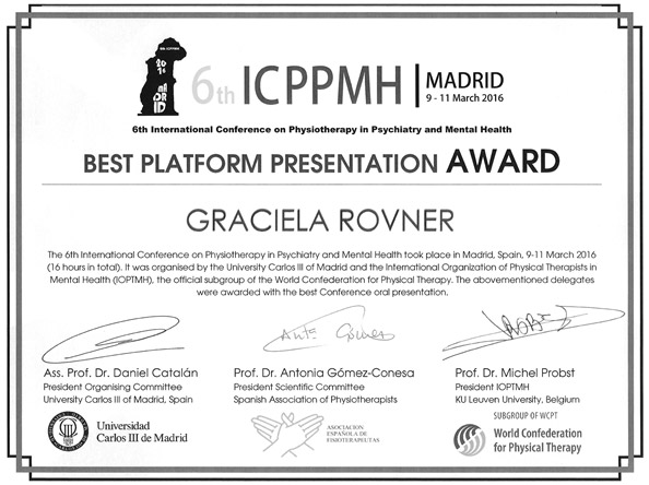 Pris för bästa muntliga presentationen